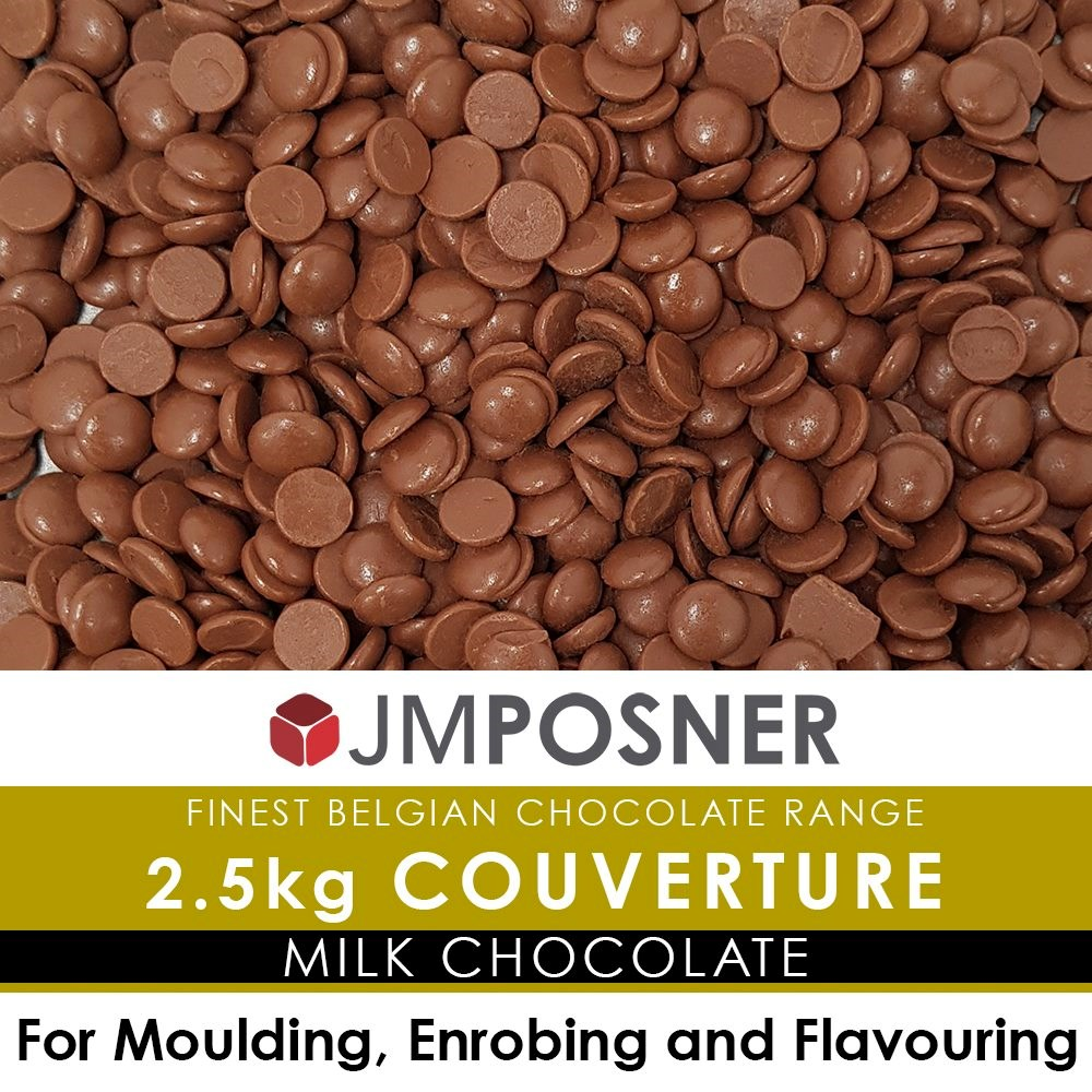 Finest Belgian Milk Couverture Chocolate - 2.5kg Bag