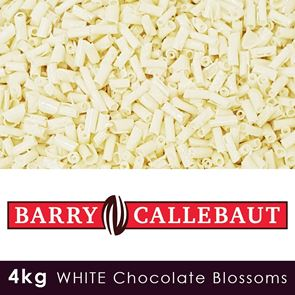 Barry Callebaut - White Chocolate Blossoms - 4kg Case