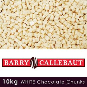 Barry Callebaut - White Chocolate Chunks - 10kg Case