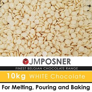 Luxury Belgian White Chocolate - 10 kg Bag